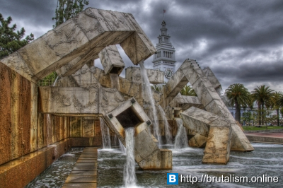Vaillancourt Fountain, Justin Herman Plaza, San Francisco, California_1